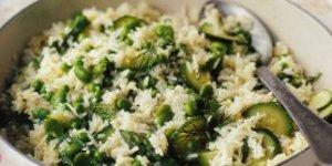 Рис пилау с весенними овощами